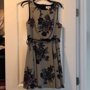 Gray floral dress size 10